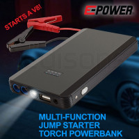 E-POWER Portable Car Vehicle Jump Starter Battery 12V Torch Emergency Lithium
