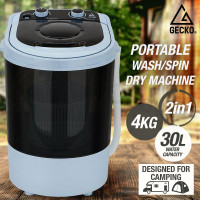 GECKO 4kg Mini Portable Washing Machine Camping Caravan Outdoor RV Boat Dry