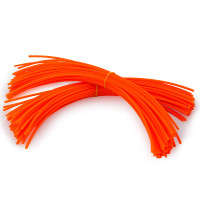 Orange 35cm 100 pcs Pre-Cut Square Edge Trimmer Line