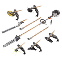 FREE SHIP- 65CC 7-in-1 Pole Chainsaw, Brush Cutter & Whipper Snipper Tool - SMX-720