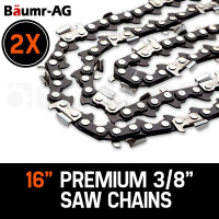 "Baumr-AG 2X 16"" Tru-Sharp 3/8 Pitch Chainsaw Chains"