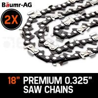 "Baumr-AG 2X 18"" Tru-Sharp .325"" Pitch Chainsaw Chains"