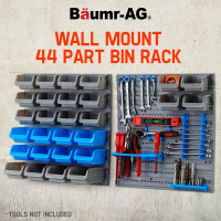Baumr-AG  44 Part  Wall Mounted  Storage Bin Rack -W28