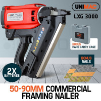Unimac 34 degrees Cordless Portable Framing Nail Gun - LXG3000