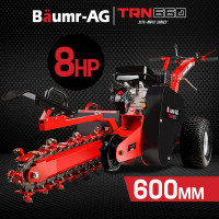 "Baumr-AG Trencher 600mm / 24"" Trench Ditch Digger 4-stroke Petrol Chain Driven"