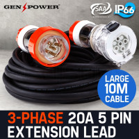 10M / 20A 5 Pin 3-Phase Power Extension Cord