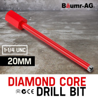 Diamond Core Drill Bit 20mm Concrete Wet Dry Tile Stone Brick Marble 1-1/4 UNC