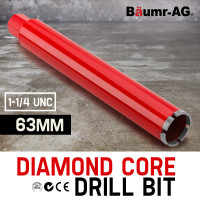 Diamond Core Drill Bit 63mm Concrete Wet Dry Tile Stone Brick Marble 1-1/4 UNC
