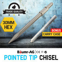 Baumr-AG JackHammer Chisel 30mm Moil Point Tile Chipper Jack Hammer Rock Breaker