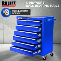 Blue 6 Drawer Tool Box Cabinet