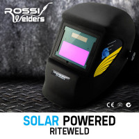 ROSSI Matte Black & Yellow Welding Helmet