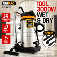 100L, 3000W Vacuum Wet & Dry, Blowing