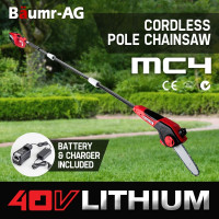 Baumr-AG 40V Cordless Pole Saw - MC4 - E-Force 400 III