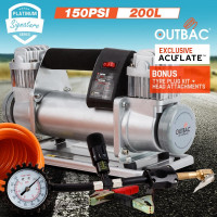 Portable Silver Air Compressor - OTB600