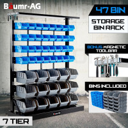 Baumr-AG Floor Standing Parts Bin Rack - F47