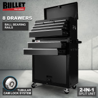BULLET 8 Drawer Tool Box Cabinet Chest Storage Toolbox Garage Organiser Set - PRE-ORDER - Shipping from 24/06