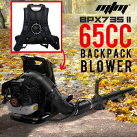 MTM 65cc Backpack Petrol Leaf Blower- BPX735 II