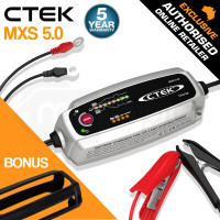 CTEK 12V 5A Bumper Cover Bundle Smart Battery Charger - MXS 5.0