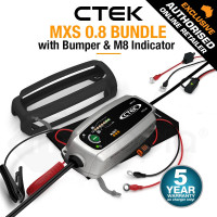 CTEK XS0.8 12V Smart Battery Charger Bundle - Comfort Indicator