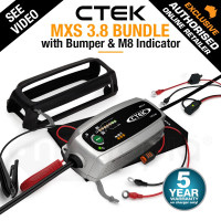 CTEK MXS 3.8 12V Smart Battery Charger Bundle Kit - Comfort Indicator Eyelet