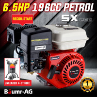 6.5HP Petrol Stationary Engine Motor 4-Stroke OHV Horizontal Shaft Recoil Start