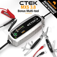 CTEK MXS 3.8 Smart Automatic Trickle 12V Battery Charger with Multi-Tool