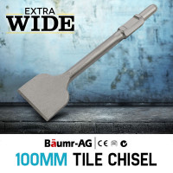 Baumr-AG JackHammer Chisel Tile Chipper Extra Wide Jack Hammer Chipping Tool
