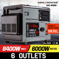 8,400W Single Phase Diesel Generator - GXS14000D