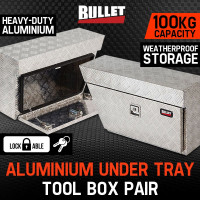 Aluminium Under Tray Pair UTE Toolboxes