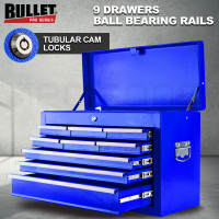 BULLET 9 Drawer Tool Box Chest Mechanic Organiser Garage Storage Toolbox Set - PRE-ORDER - Shipping from 24/6