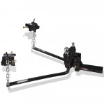 800lbs Round Bar Weight Distribution System with Hitch Ball