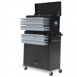 Black/Grey Box Storage Wheels Chest Cabinet Tool Kit Set