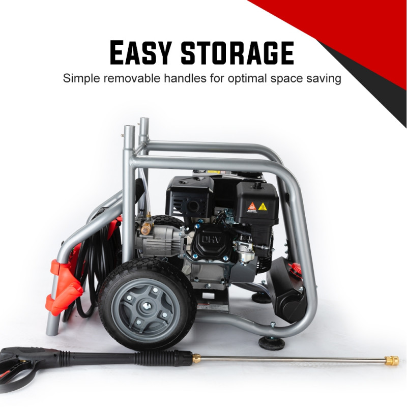 JET-USA 4800PSI Petrol Powered High Pressure Washer w/ 30m Hose and Drain Cleaner - CX760 Gen IV by Jet-USA