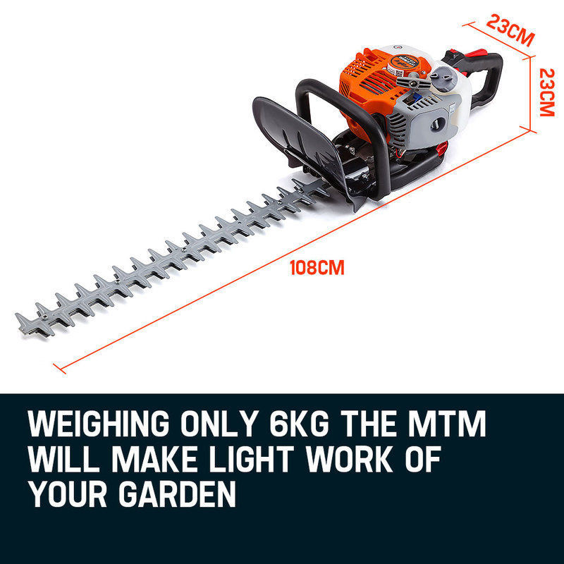 MTM 26CC Petrol Hedge Trimmer Clipper Saw Precision Blade Commercial Pruner by MTM