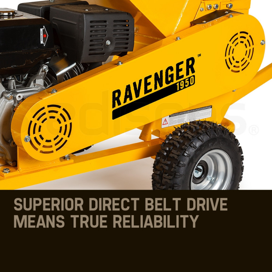 MICHIGAN 18HP 420cc Commercial Petrol Wood Chipper Mulcher - Ravenger by Michigan