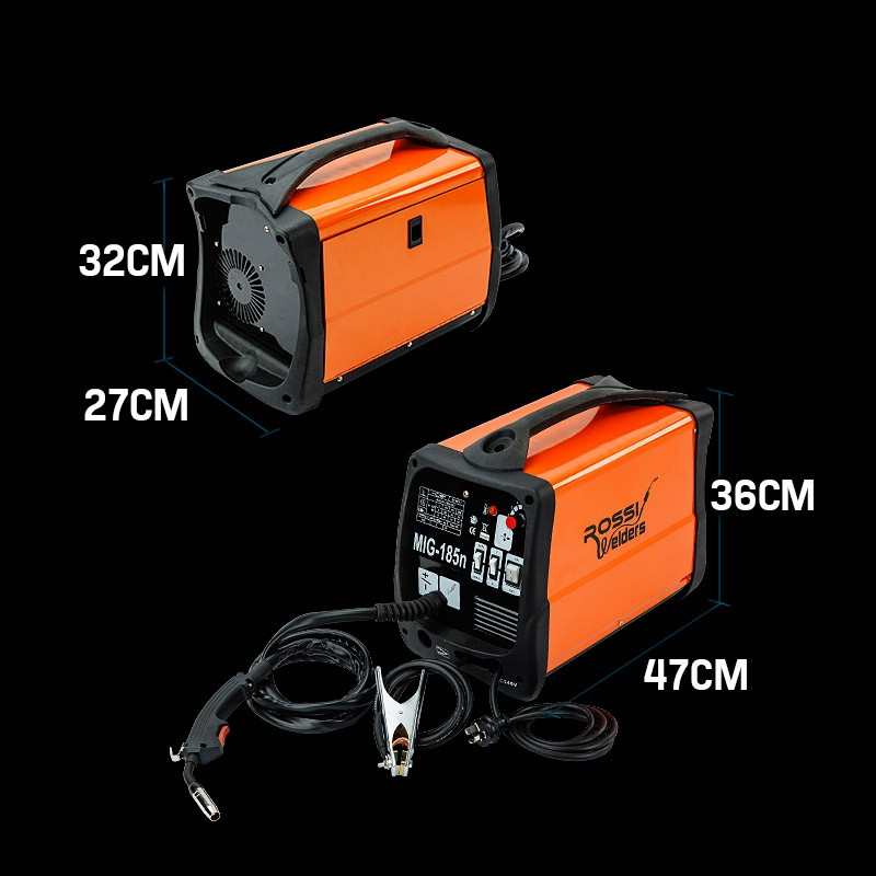 ROSSI 185 Amp Welding Machine Inverter Welder MIG MAG Gas Gasless Portable 185A by Rossi