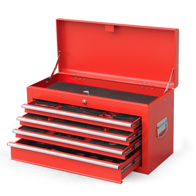 Red 478 Piece Box Chest Cabinet Tool Kit Set by Carson