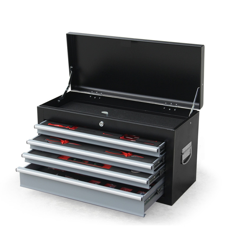 Black/Grey 478 Piece Box Chest Cabinet Tool Kit Set by Bullet Pro