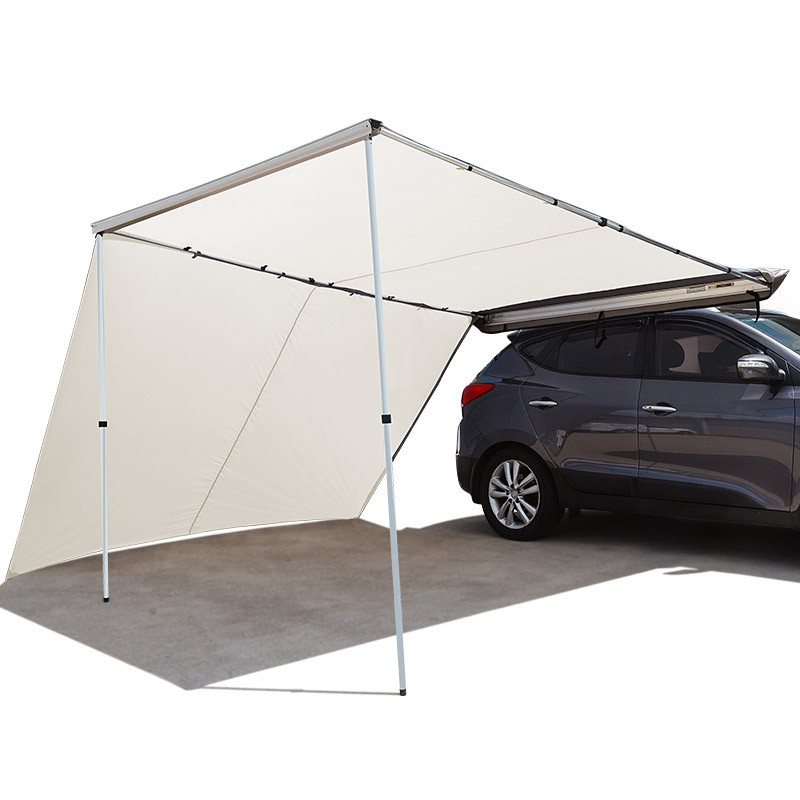 Beige 2 5m X 3m Roof Top With Side Car Awning Bullet