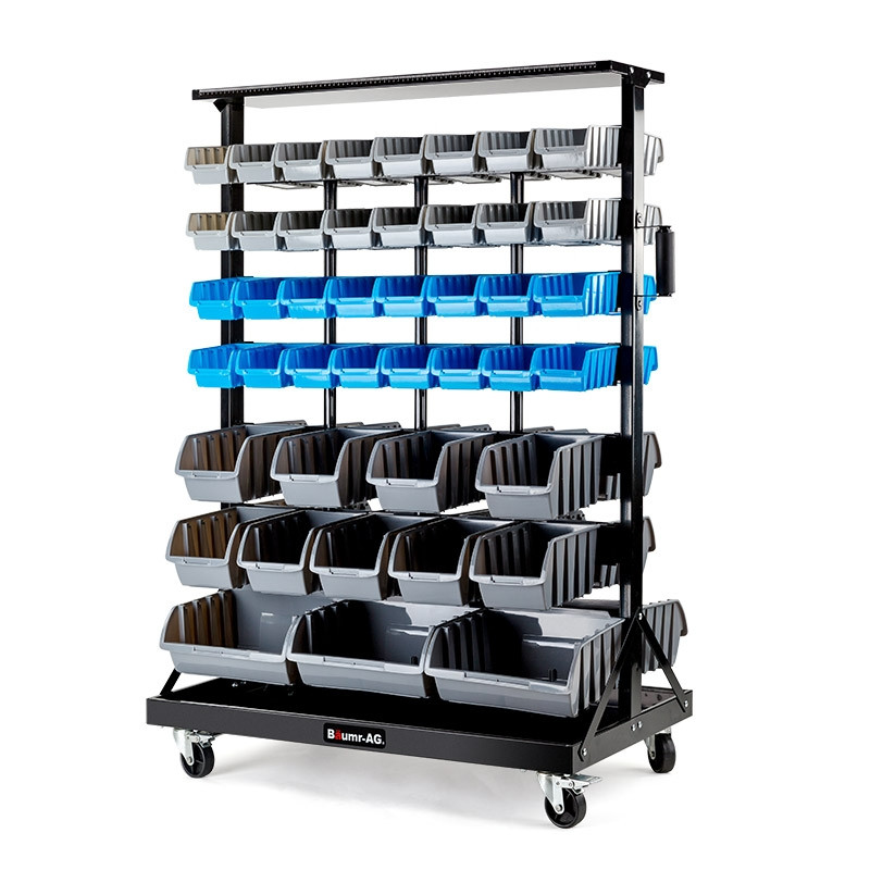 88 Double Sided Bin Storage Rack Shop Baumr Ag Storage Racks
