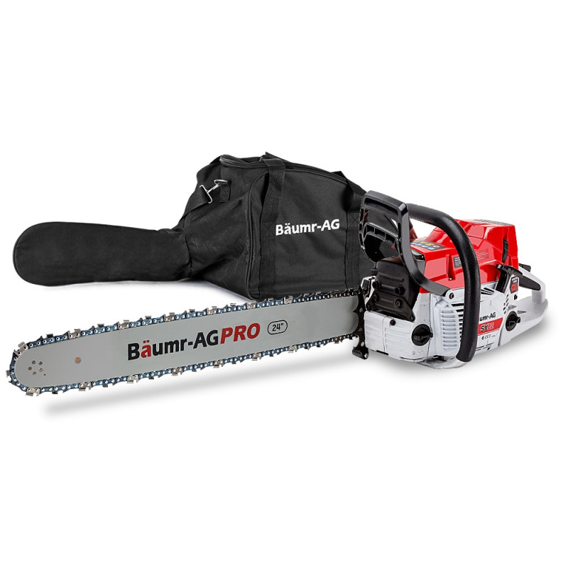 """Baumr-AG 82CC Commercial Petrol Chainsaw E-Start 24"""" Chain Saw Tree Pruning by Baumr-AG"""