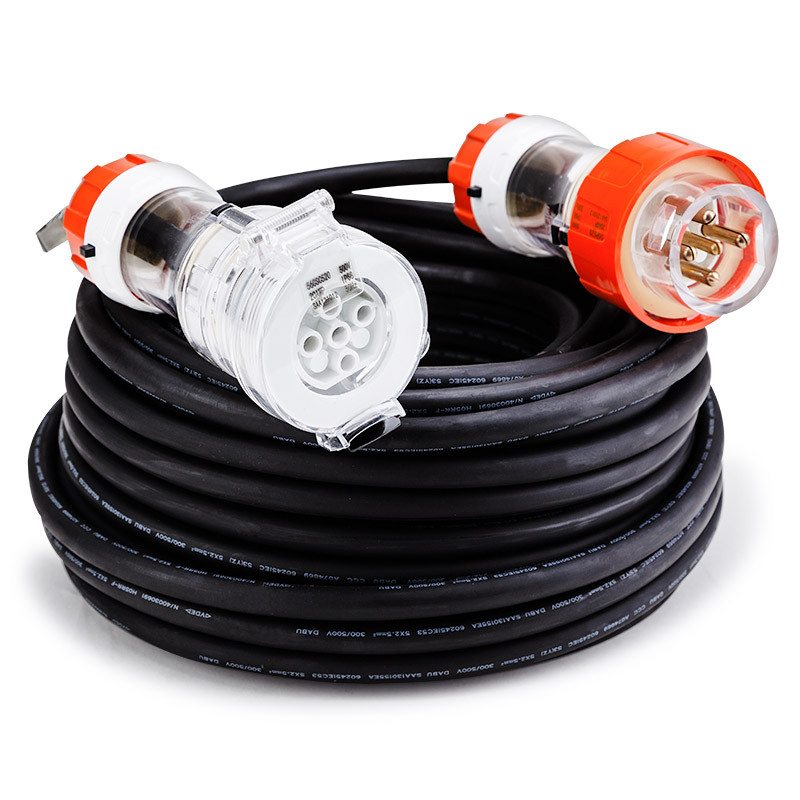 30m 20a 5 Pin 3 Phase Extension Power Cord Genpower