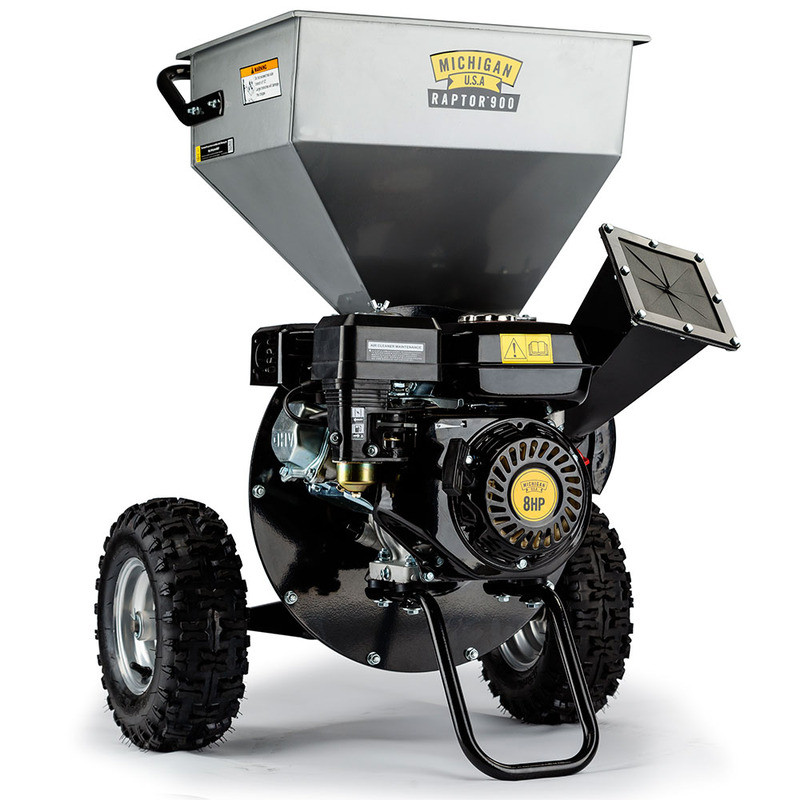 8HP Wood Chipper -Raptor900 - Raptor 900 by Michigan USA