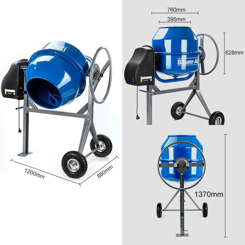 Cement Mixer Blades : L portable electric concrete cement mixer baumr ag