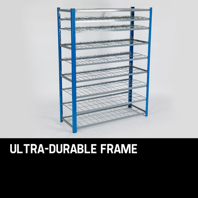 36 Parts Bin Storage Shelves Rack Shelving Tools Shelf Metal Workshop Garage by Baumr-AG