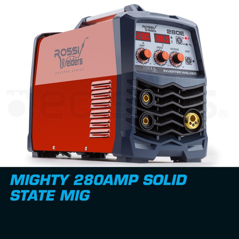 ROSSI 280Amp Welder MIG ARC MAG Gas Gasless DC Welding Machine Inverter Tool by Rossi