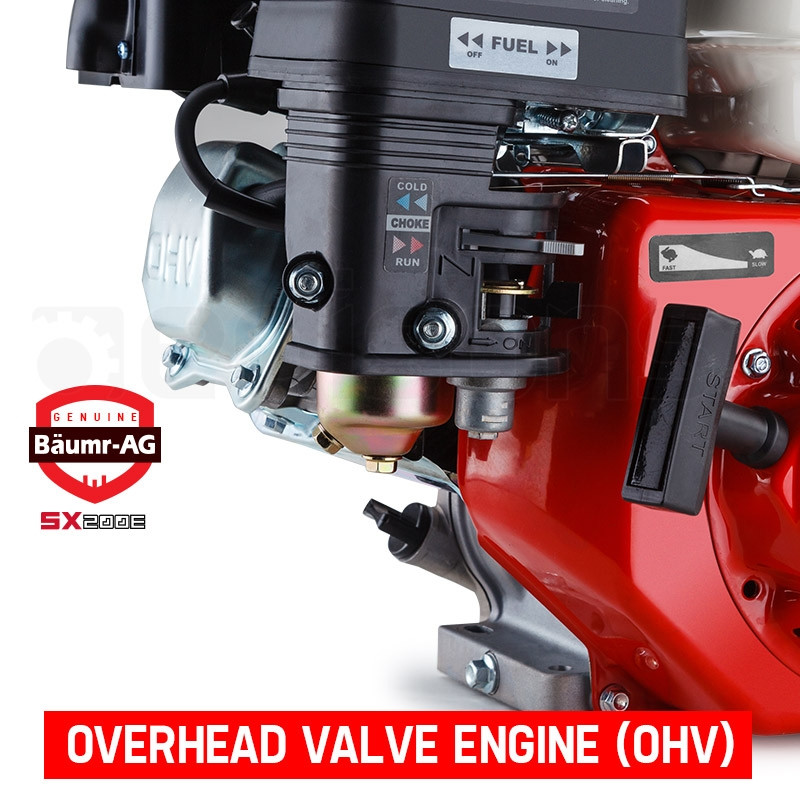 7HP Petrol Engine Stationary Motor OHV Horizontal Shaft Electric Start 4-stroke by Baumr-AG