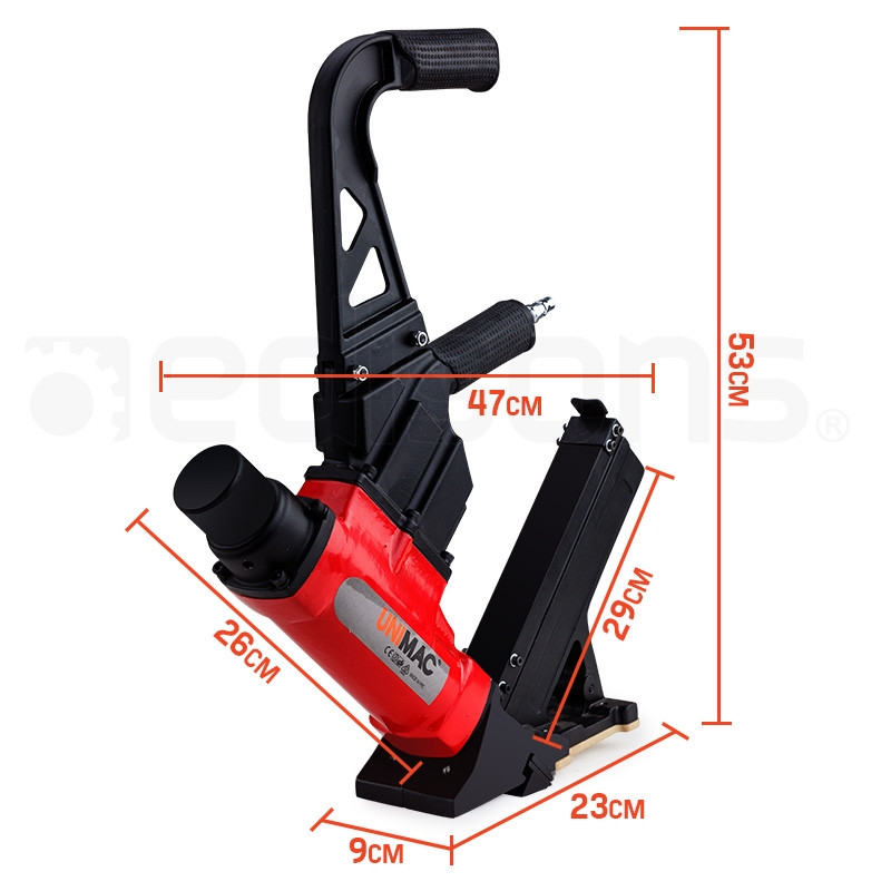 Pneumatic floor nail gun shop unimac nail guns edisons for Floor nail gun
