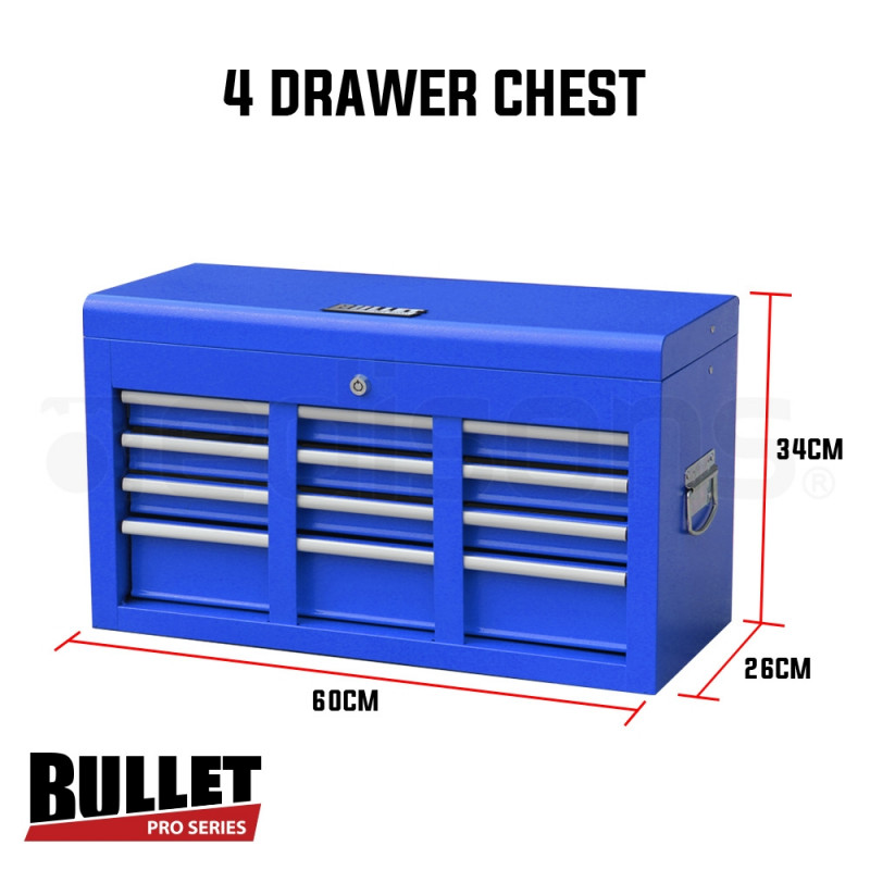 Blue 478 Piece Box Chest Cabinet Tool Kit Set  by Bullet Pro