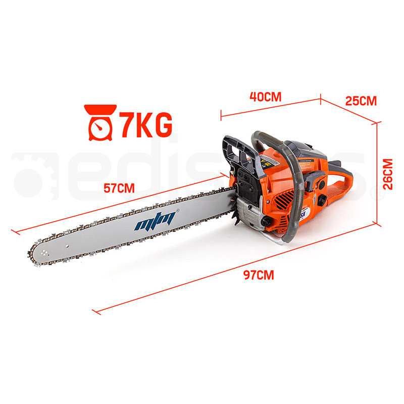 "MTM 22"" Bar 62CC E-Start Arborist Commercial Petrol Chainsaw Pruner - 62SX by MTM"